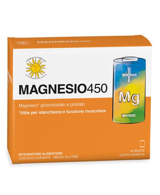 Magnesio 450 Integratore Stanchezza e Affaticamento 20 Buste - latuafarmaciaonline.it