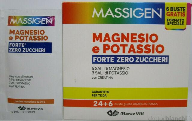 MASSIGEN MAGNESIO POTASSIO FORTE ZERO ZUCCHERI 24 BUSTINE - Farmaedo.it