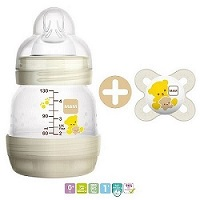 MAM FIRST BOTTLE START 130ML + SUCCHIETTO NANO 0-2 - Farmawing