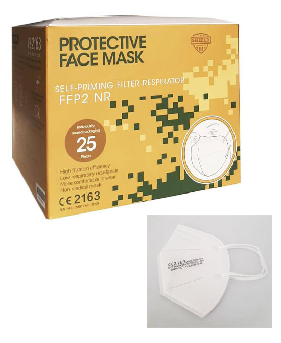 Mascherine FFP2 Certificate CE 2163 1 mascherina singola - latuafarmaciaonline.it