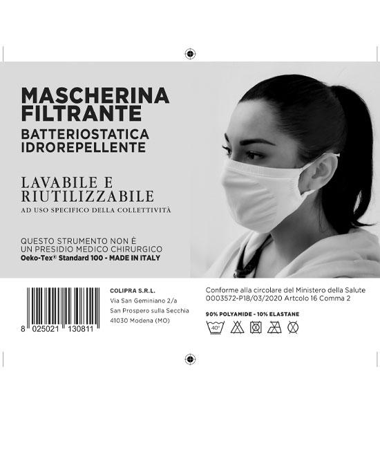 Mascherina Batteriostatica lavabile fino a 20 volte - latuafarmaciaonline.it