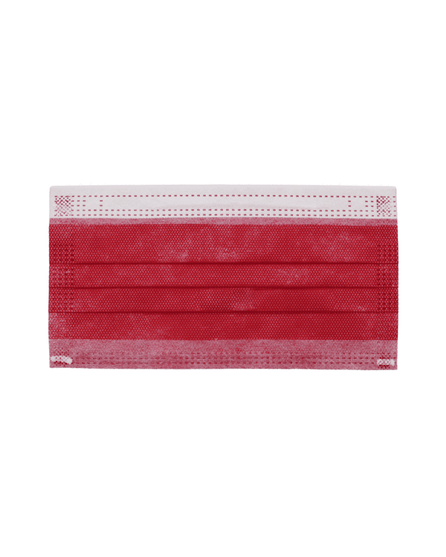 Mascherine chirurgiche adulto Cutered - colore bordeaux - 10 pezzi - Farmalke.it
