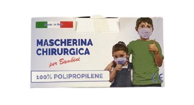 Mascherina Chirurgica CE - Made in Italy per Bambini - CONFEZIONI DA 10 PZ - Farmacia33