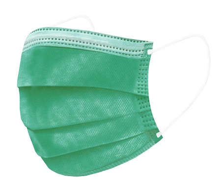 Mascherine Chirurgiche  CE Colorate - Colore Verde - (conf. da 10 pezzi)  - Farmaconvenienza.it
