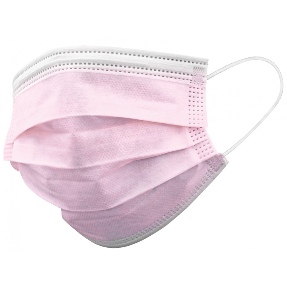 MASCHERINA CHIRURGICA MONOUSO ADULTI - TIPO II colore rosa 10 pz - Farmapage.it