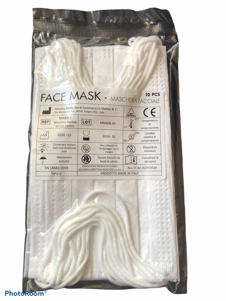 mascherina chirurgica tipo 2 conf. 10 pezzi - Farmacia Bartoli