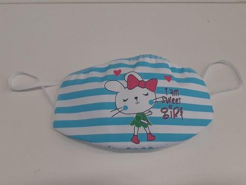 Mascherina lavabile Bimba da 2/3 anni fantasia Coniglio -
