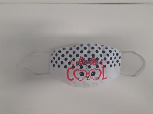 Mascherina lavabile Bimba da 4/10 anni fantasia gatto -