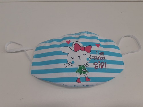 Mascherina lavabile Bimbo da 4/10 anni fantasia coniglio -
