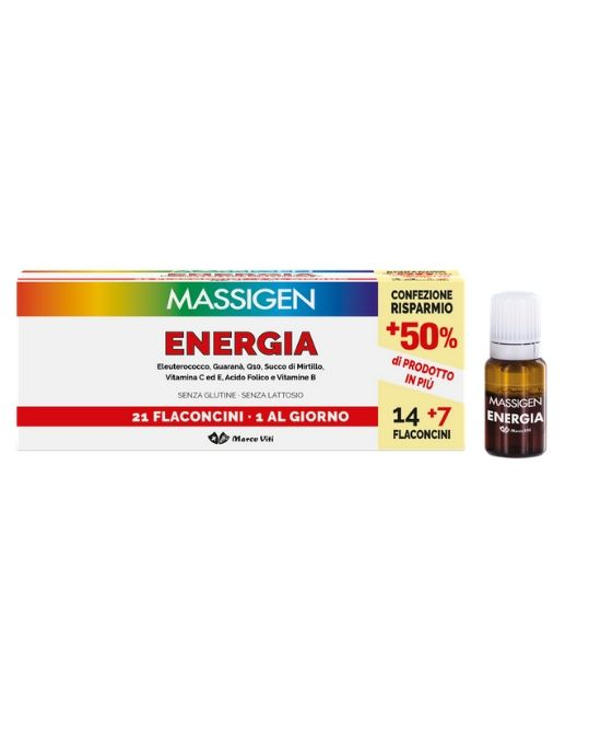 MASSIGEN ENERGIA 21 FLACONCINI DA 10 ML - Farmapage.it