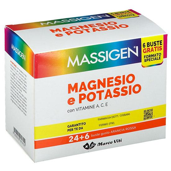 MASSIGEN MAGNESIO POTASSIO 30 BUSTINE 6 G - FARMAEMPORIO