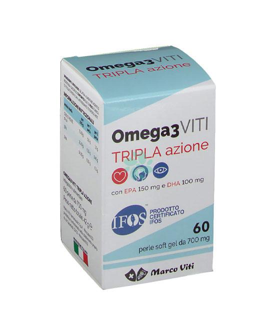 Omega3 viti tripla azione 60 perle - latuafarmaciaonline.it