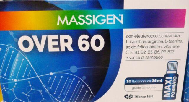 MASSIGEN OVER 60 10 FLACONI DA 25 ML - Farmabaleno