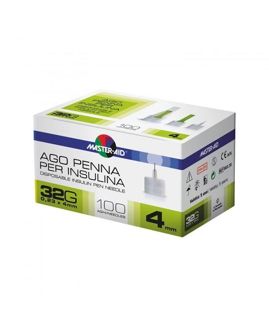 MASTER-AID Ago Penna Per Insulina G32 4mm 100 PZ - Farmapage.it