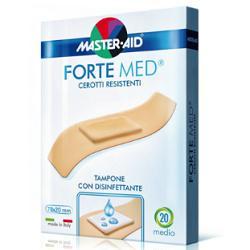 MASTER-AID® FORTE MED® CEROTTI RESISTENTI TAMPONE CON DISINFETTANTE FORMATO GRANDE  10 STRIP - Iltuobenessereonline.it