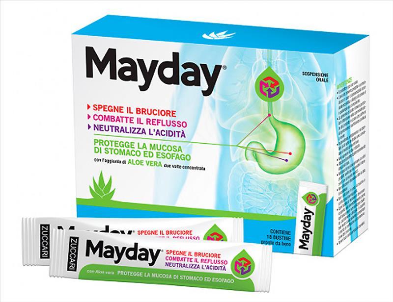 Zuccari Mayday Gastroprotettore Reflusso e Acidità di Stomaco 18 Stick da Bere - latuafarmaciaonline.it