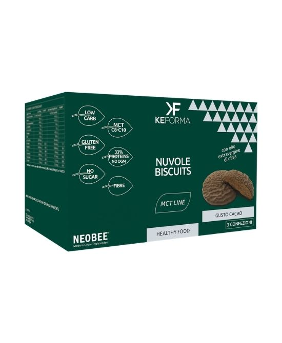 KEFORMA MCT NUVOLE BISCUITS CACAO 3 PEZZI X 30 G - Farmapage.it