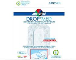 MEDICAZIONE COMPRESSA AUTOADESIVA DERMOATTIVA IPOALLERGENICA AERATA MASTER-AID DROP MED 10X6 5 PEZZI - farmaciafalquigolfoparadiso.it