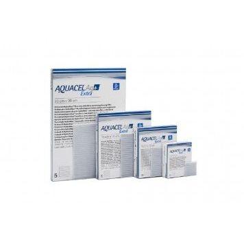 MEDICAZIONE IN HYDROFIBER E IONI ARGENTO INTESSUTA IN LYOCELL AQUACEL AG + EXTRA 2X45CM 5 PEZZI - Speedyfarma.it