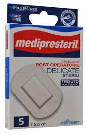 MEDICAZIONE MEDIPRESTERIL POST OPERATORIA DELICATA STERILE 7,5X5 5 PEZZI - Turbofarma.it