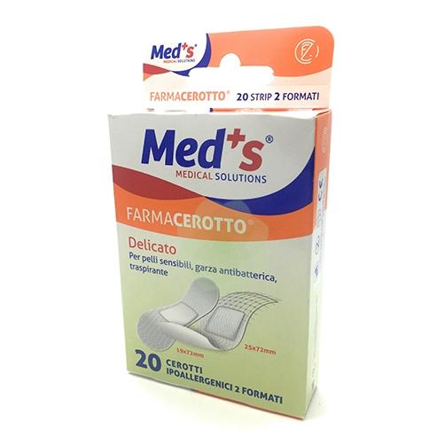 CEROTTO MEDS STRIPS DELICATO TESSUTO NON TESSUTO 2 FORMATI 20 PEZZI - Speedyfarma.it