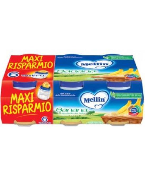 MELLIN OMOGENEIZZATO BANANA 6 X 100 G - Farmaci.me