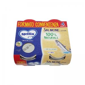 MELLIN OMOGENEIZZATO DI SALMONE E VERDURE 4 X 80 G - Farmaconvenienza.it