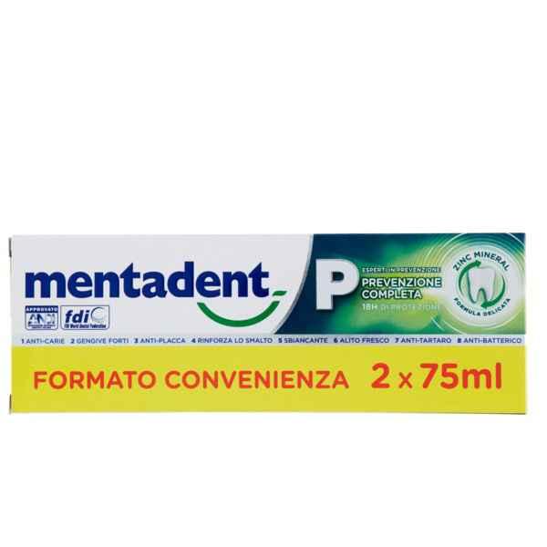 MENTADENT P 2 X 75 ML BITUBO PROMO - Farmacia Massaro