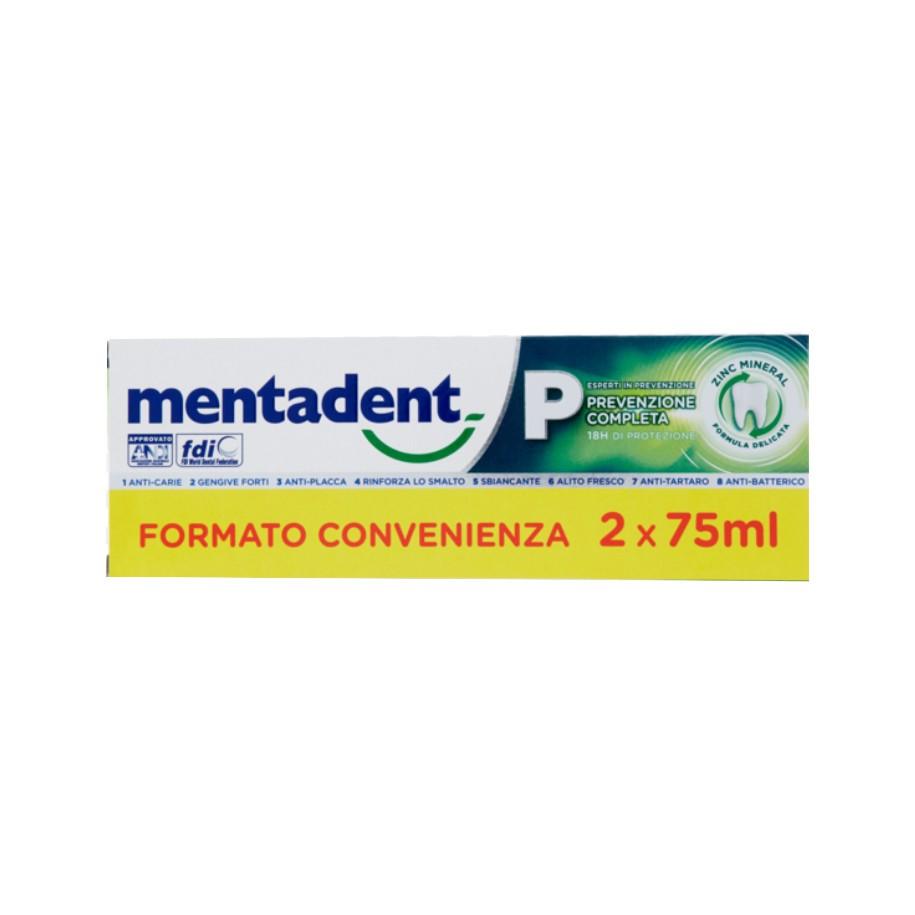 MENTADENT P 2 X 75 ML BITUBO PROMO - FARMAPRIME