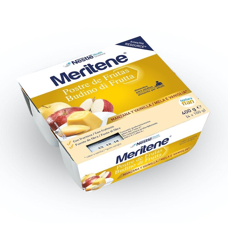 Meritene Budino Frutta Mela-Vaniglia 4 x 100g - Arcafarma.it