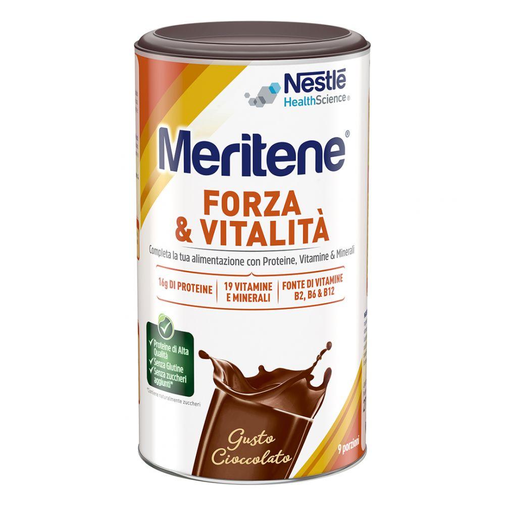 Meritene polvere Protein Gusto Cioccolato Integratore Alimentare 270g - Farmafamily.it