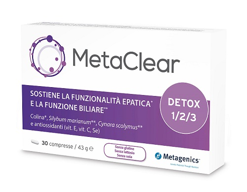 Metaclear Integratore Pulizia del Fegato Metagenics 30 Compresse - Farmastar.it