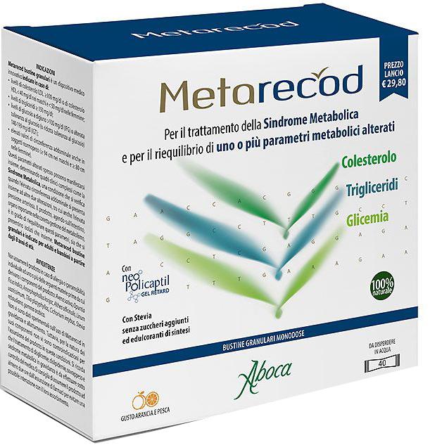 METARECOD 40 BUSTINE GRANULARI X 2,5G GUSTO ARANCIA E PESCA - Farmacia Centrale Dr. Monteleone Adriano