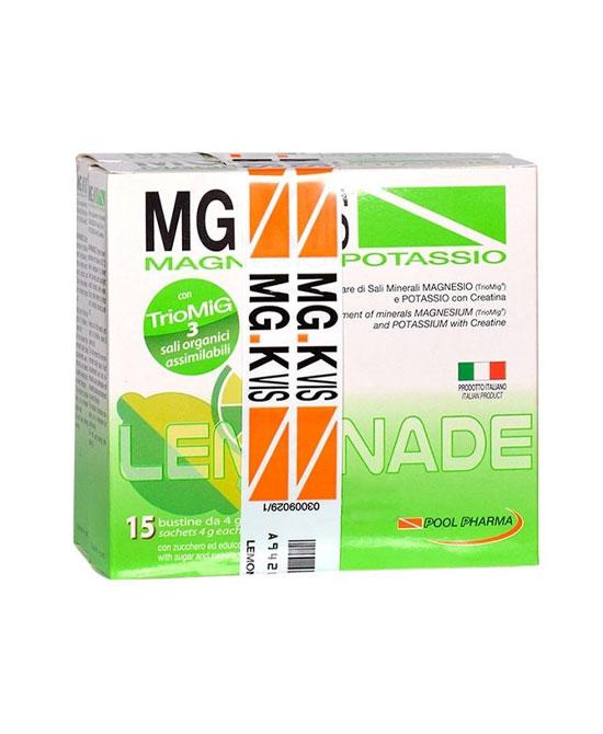 Mg K Vis magnesio e potassio lemonade 15 bustine più 15 in omaggio - latuafarmaciaonline.it