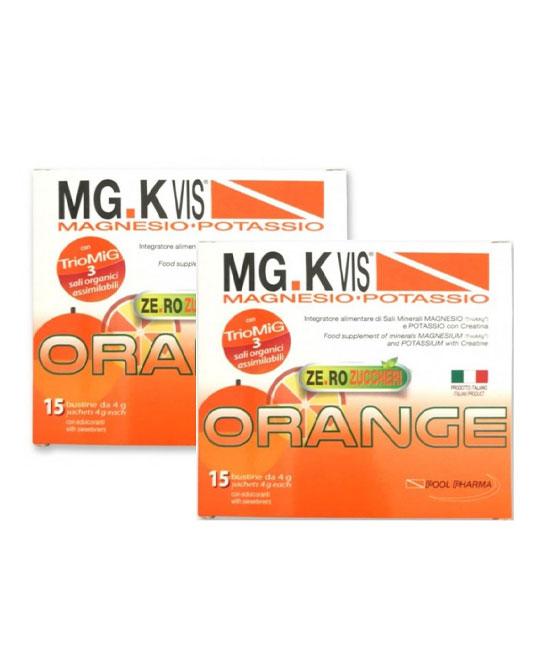 Mg K Vis orange zero zuccheri 15 bustine + 15 in omaggio - latuafarmaciaonline.it