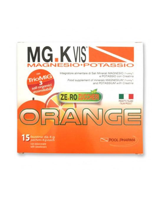 Mg K Vis Orange zero zuccheri 15 bustine - latuafarmaciaonline.it