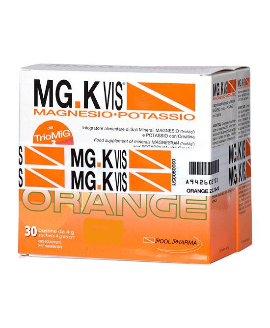 Mg K Vis  Orange Zero Zuccheri 30 bustine + 15 in omaggio - latuafarmaciaonline.it