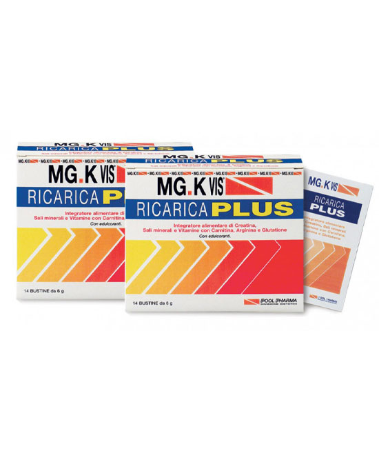 Mg K Vis Ricarica Plus 14 Bustine + 14 in omaggio - latuafarmaciaonline.it