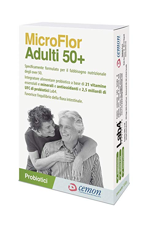 Microflor Adulti 50+ 30 Capsule - Arcafarma.it