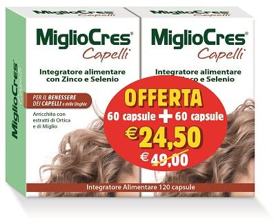 MIGLIOCRES 60+60 CAPSULE 60 G PROMOZIONE - FARMAPRIME