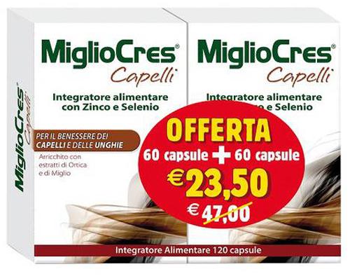 MIGLIOCRES 60+60 CAPSULE 60 G PROMOZIONE - Farmacia Centrale Dr. Monteleone Adriano