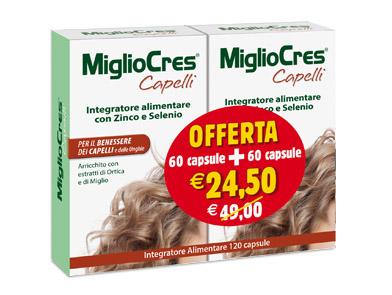 F&F Srl MIGLIOCRES 60+60 CAPSULE 60 G - Zfarmacia