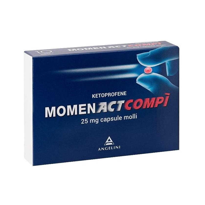 Momentact Compì 25mg 10 Capsule Molli - Arcafarma.it