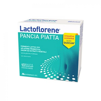 Montefarma Otc Lactoflorene Pancia Piatta Integratore Alimentare 10 Bustine - Farmacia Castel del Monte