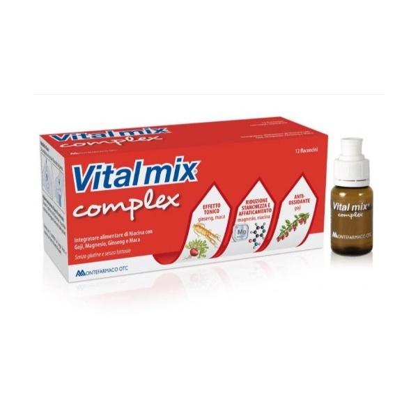 Montefarmaco OTC Vitalmix Complex Integratore Alimentare 12 Flaconcini da 10 ml - Farmafamily.it
