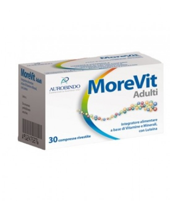MOREVIT ADULTI 30 COMPRESSE - Farmafamily.it