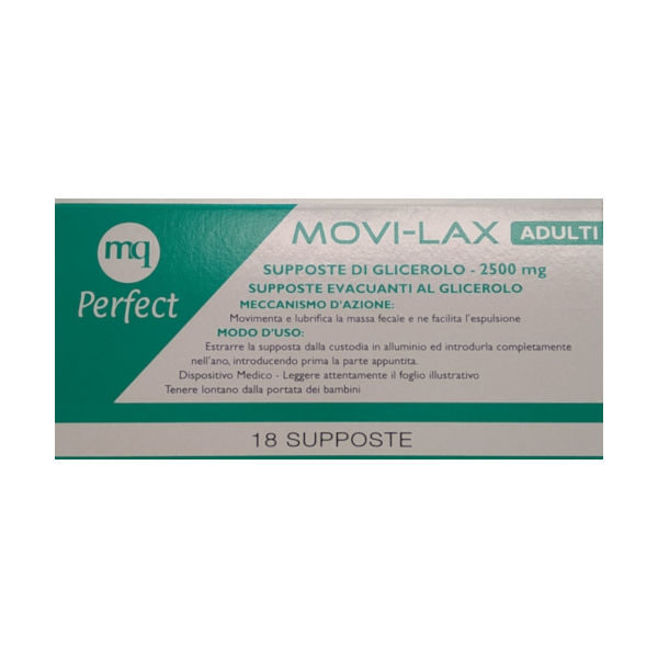 MOVI-LAX 18 SUPPOSTE DI GLICEROLO DA 2500 MG - Farmastar.it