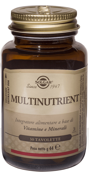 MULTINUTRIENT SOLGAR 30 TAVOLETTE - Farmacia Centrale Dr. Monteleone Adriano
