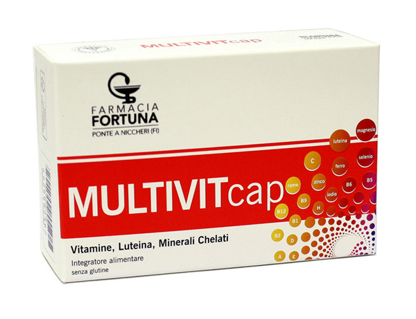TuaFarmaonLine MULTIVITcap Integratore Energetico Stanchezza 30 Capsule - latuafarmaciaonline.it
