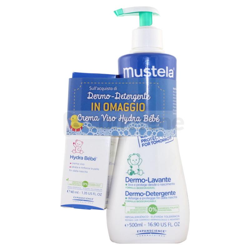 Mustela Dermodetergente 500ml + Hydra Bebè Viso 40ml - Sempredisponibile.it